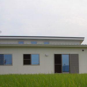 リビングから始まる平屋の家