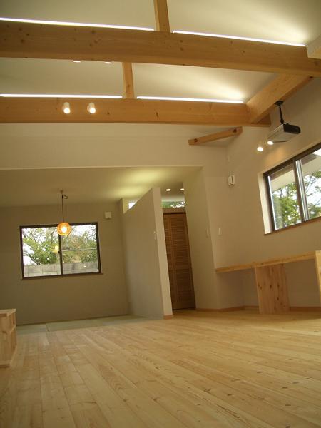 リビングから始まる平屋の家イメージ2
